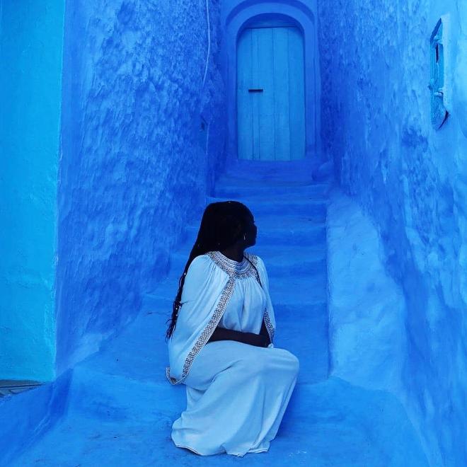 (Karen in Chefchaouen, Morocco)
