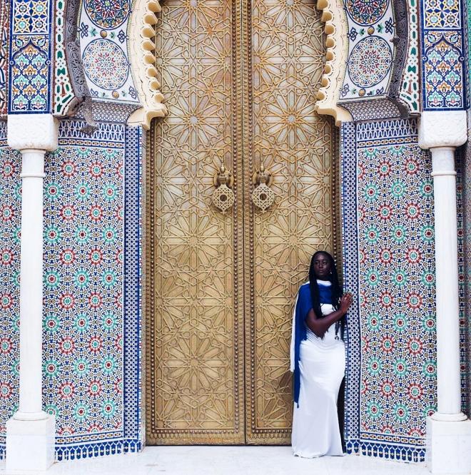 (Karen in Palais Royale in Fez, Morrocco)