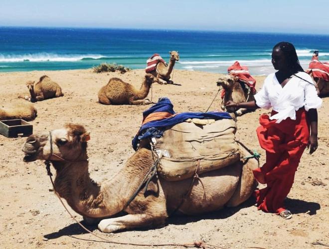 (Karen ins Tangier, Morocco in July 2017)